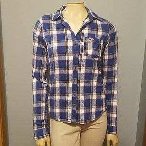 Hollister plaid shirt - S